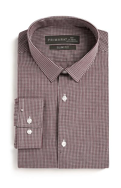 Burgundy Check Shirt
