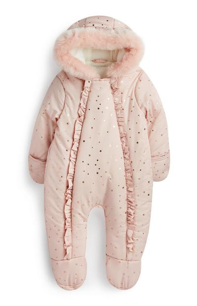 Newborn Girl Pink Snowsuit