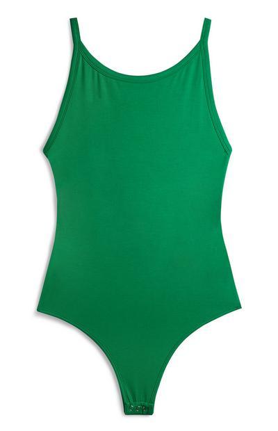 Green Scoop Bodysuit