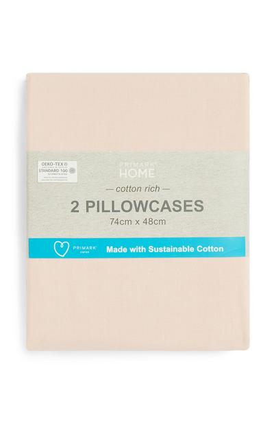 Sustainable Cotton Pillowcases 2Pk