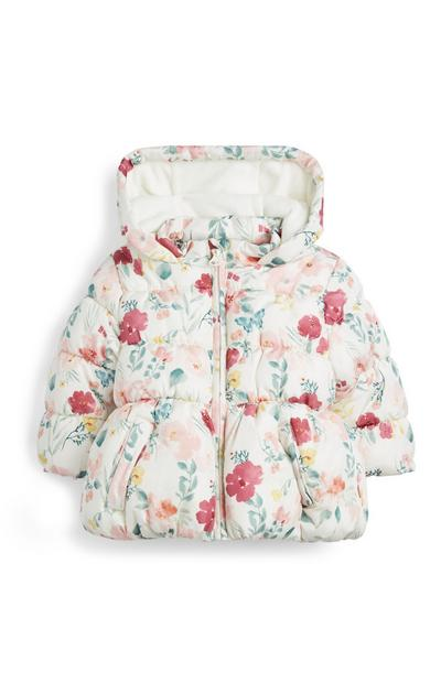 Baby Girl White Padded Jacket