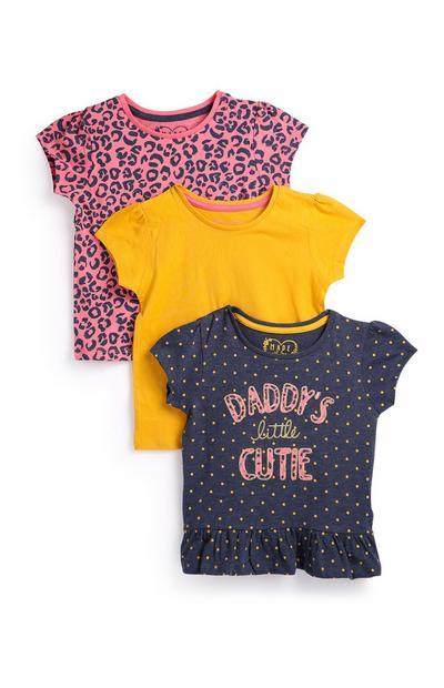 Baby Girl T-Shirts 3Pk