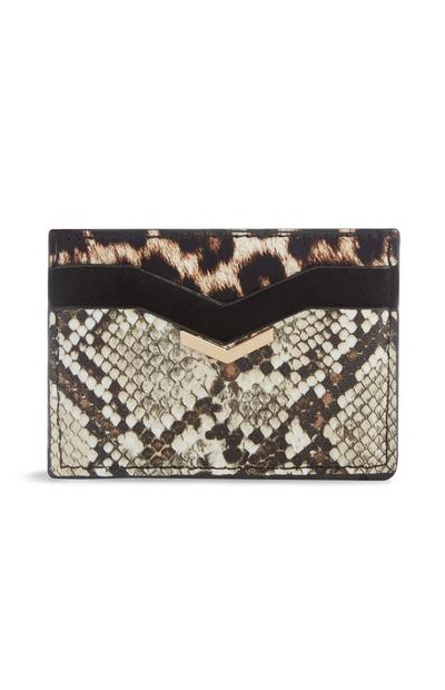 Animal Print Card Wallet