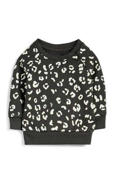 Baby Girl Leopard Print Sweatshirt