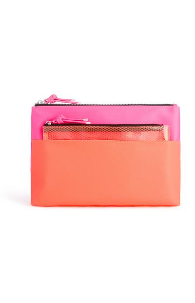 Tasche in Pink/Orange, 2er-Pack