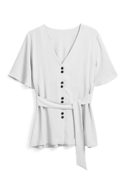 White Belted Shirt