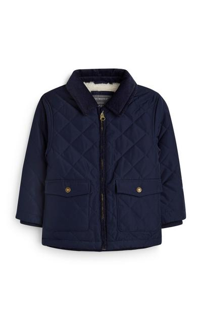 Baby Boy Navy Quilted Jacket