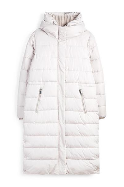 White Long Puffer Coat