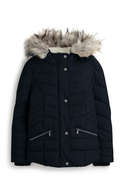 Older Girl Navy Padded Coat