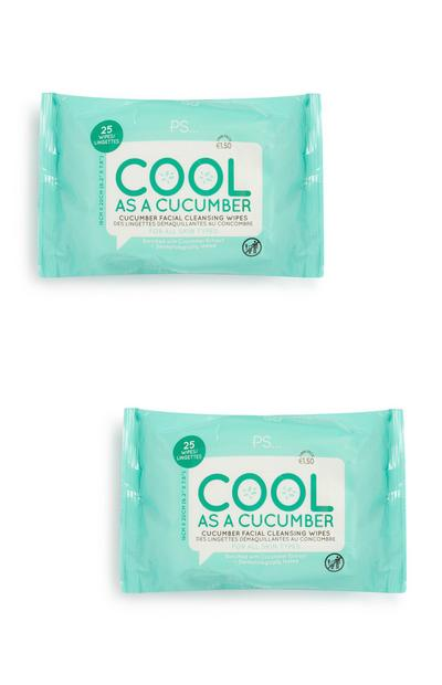 Cucumber Face Wipes 2Pk
