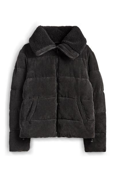 Grey Borg Corduroy Coat
