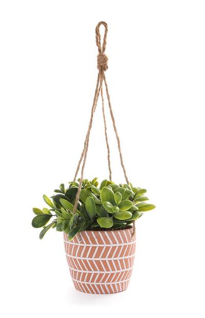 Hanging Terracotta Faux Plant