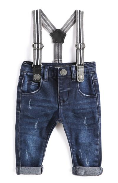 Baby Boy Denim Jeans With Braces