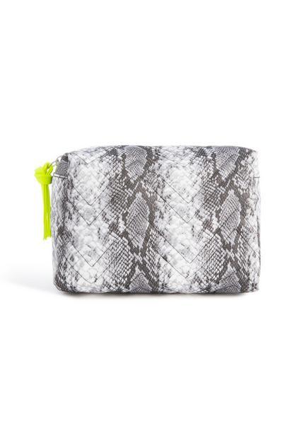 Make-up-Tasche mit Schlangenprint