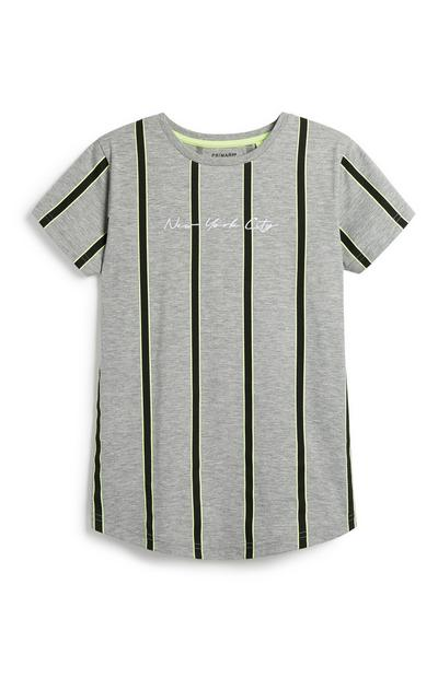 Older Boy Neon Stripe T-Shirt