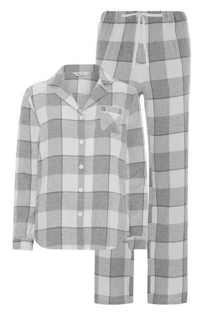 Grey Check Pyjama Set