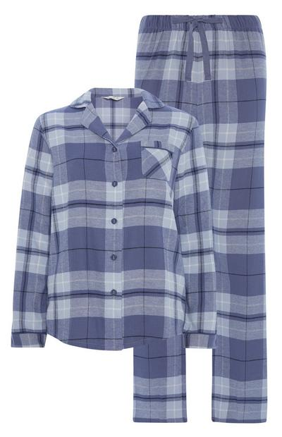 Blue Check Pyjama Set