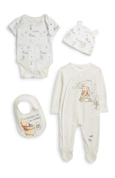 Newborn Winnie The Pooh Outfit 4Pc