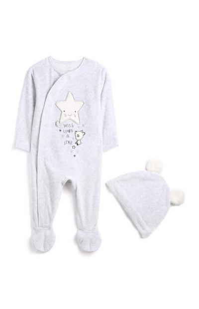 Newborn Panda Velour Outfit 2Pc