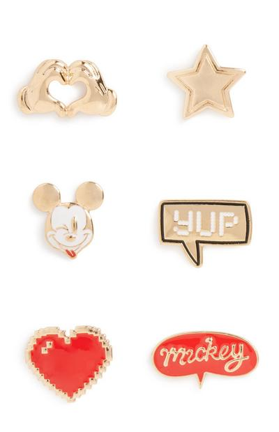 Mickey Mouse Badge 6Pk