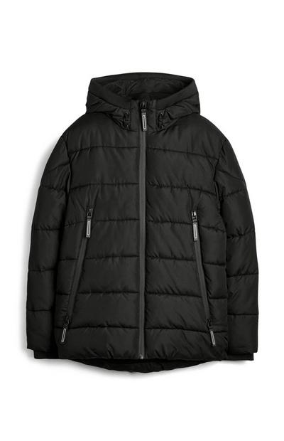 Older Boy Black Puffer Coats