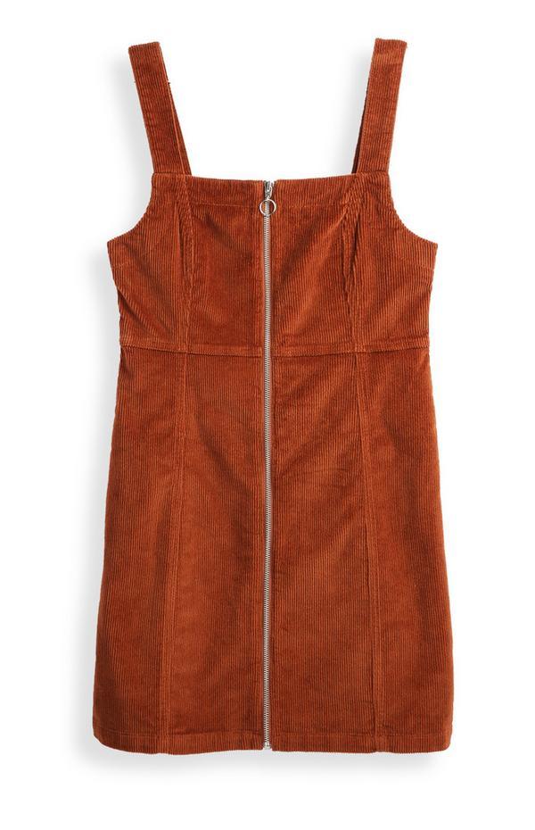 Tobacco Corduroy Dress
