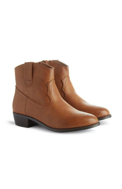 Younger Girl Brown Western Boot