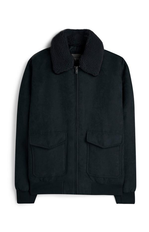 Suede Borg Collar Jacket