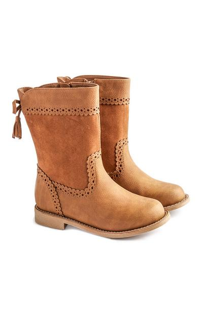 Younger Girl Suede And Leather Boot