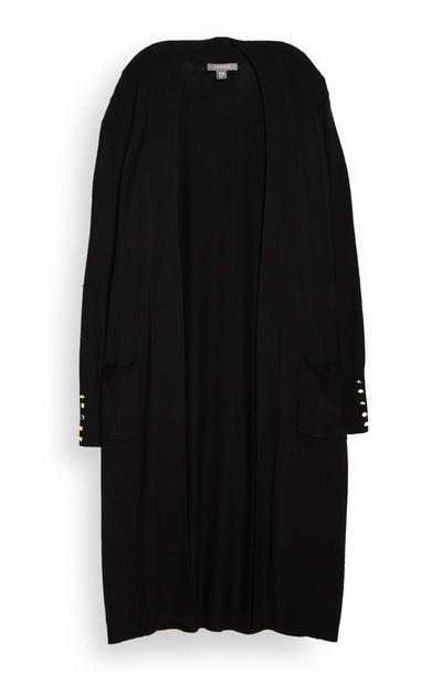 Black Long Cardigan