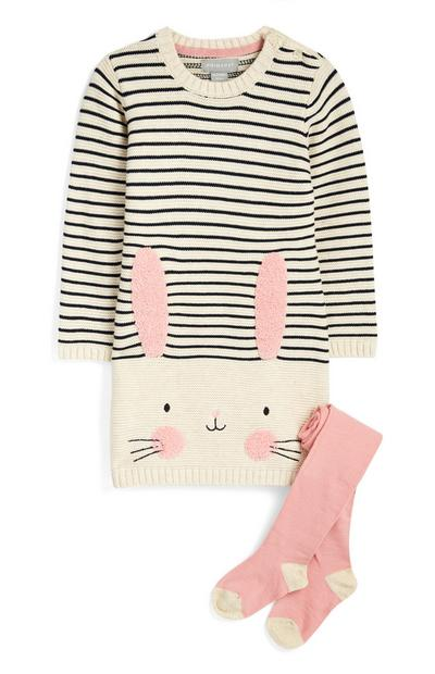 Baby Girl Bunny Dress And Tights