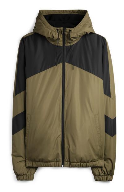 Khaki Chevron Jacket
