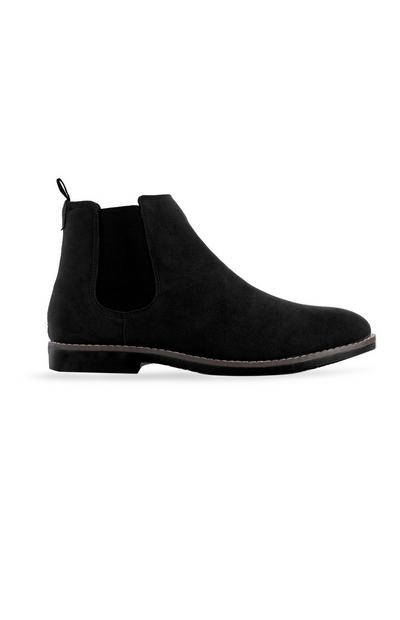 Black Faux Suede Ankle Boot