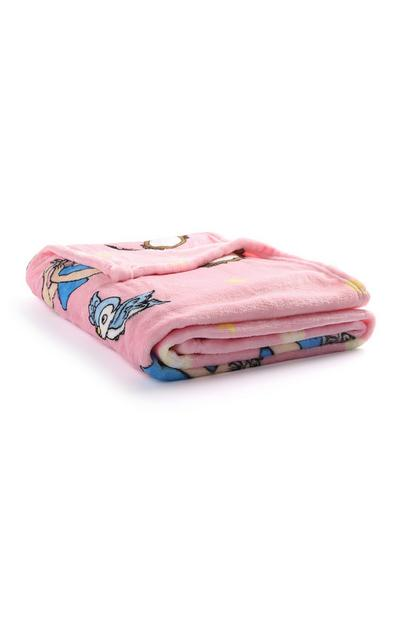 Pink Snow White Throw