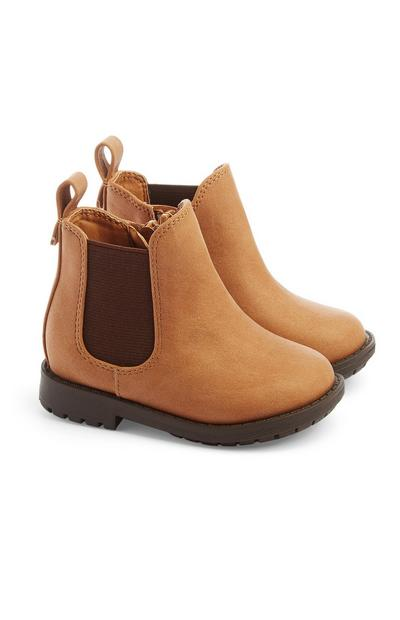 Baby Girl Tan Chelsea Boot