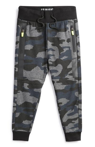 Younger Boy Black Camo Joggers