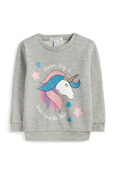 Younger Girl Sequin Unicorn Jumper