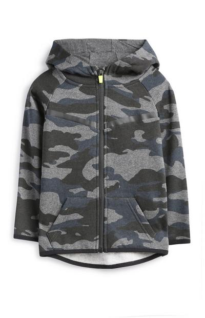 Younger Boy Black Camo Hoodie
