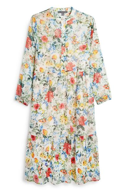 Floral Print Layer Dress
