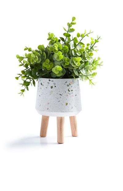 Large White Faux Plant