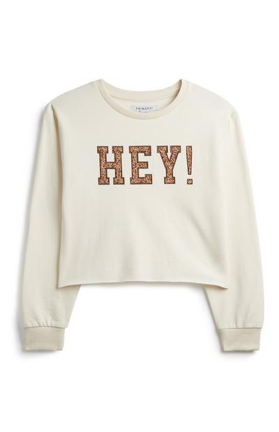 Older Girl Slogan Sweatshirt