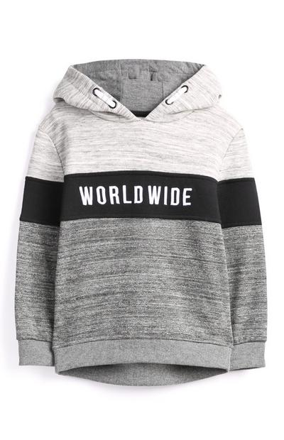 Younger Boy Grey Hoodie