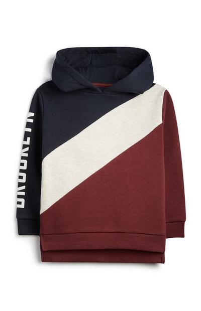 Younger Boy Colour Block Hoodie