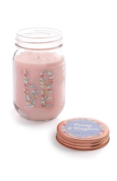 Love Slogan Candle