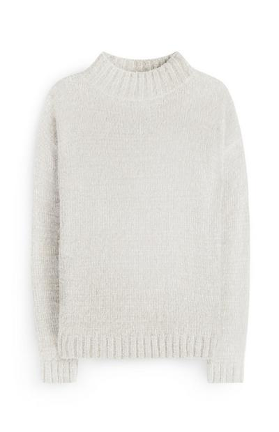 White Fluffy Jumper