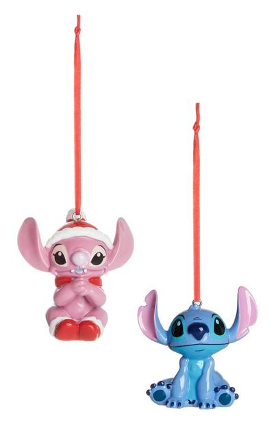 Lilo And Stitch Christmas Decoration 2Pk