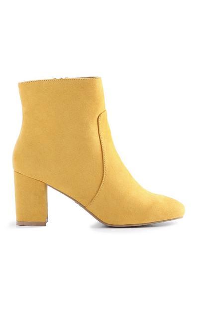 Yellow Block Heel Boot