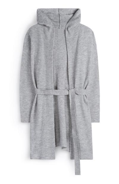 Grey Belted Robe