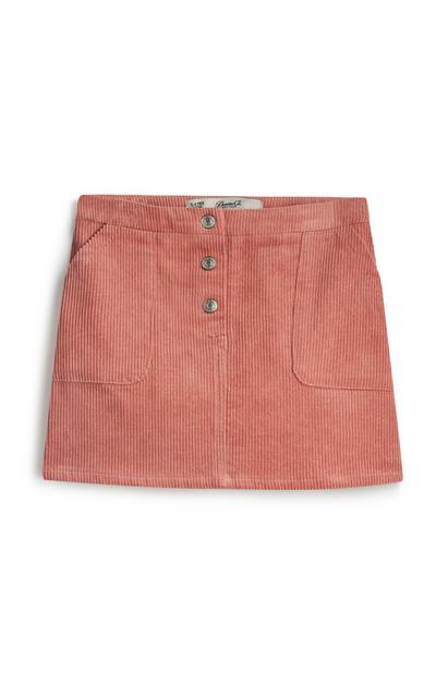 Younger Girl Corduroy Blush Skirt