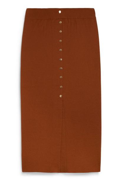 Terracotta Midi Skirt